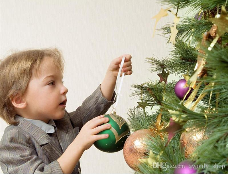 Рождественское письмо дерево сердце пузырь шаблон орнамент Рождественская елка украшения дома фестиваль украшения висит подарок 6 шт./лот