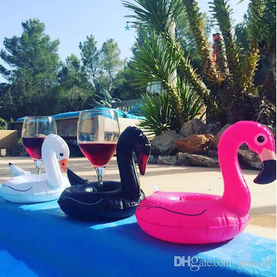 Pink Black White Swan Unicorn Inflatable Cup Floating Inflatable Drink Cup Holder Swimming Pool Bath Beach Party Child's Play Kids Bath Toy