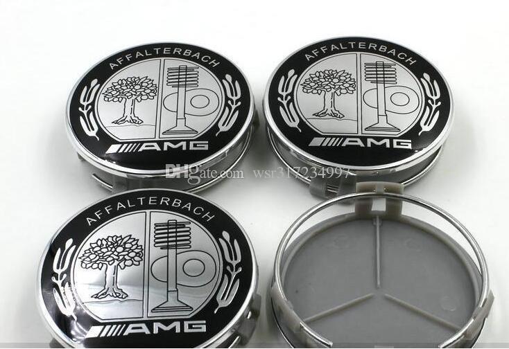 Hot sale DHL 75MM For Be n z AMG AFFLTERBACH /GLS/GLC/GLA/GL/GLK/ML Auto Wheel Cover Car Wheel Emblem Label Car Wheel Hub Cap