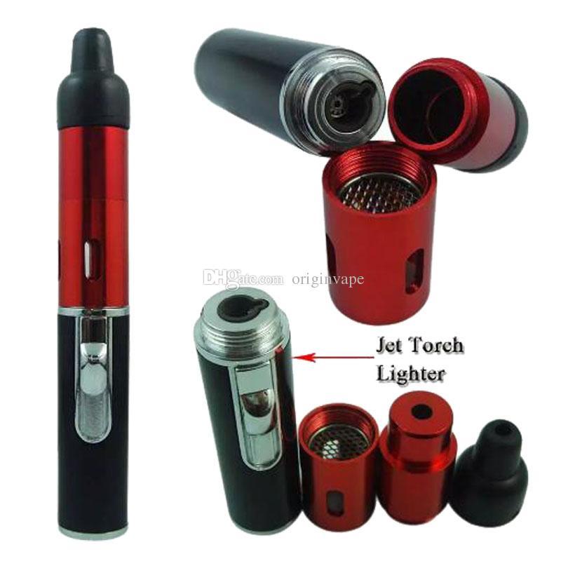 Più nuovo Smoking Click N Vape Dry Vaporizzatore di erbe Sneak Toke Burner Lighter Torch Wax Pipe Filter multi Colori DHL LIBERA il Trasporto