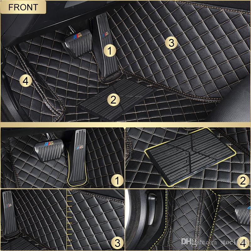 SCOT Custom Fit Leather Car Floor Mats for Acura CDX All Weather Waterproof Anti-slip 3D Front & Rear Carpets Left-Hand-Driver-Model