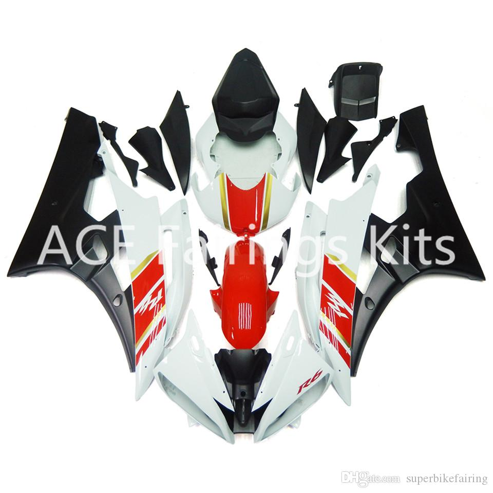 3 gift New Fairings For Yamaha YZF-R6 YZF600 R6 06 07 2006 2007 ABS Plastic Bodywork Motorcycle Fairing Kit Cowling Cover White black red b1
