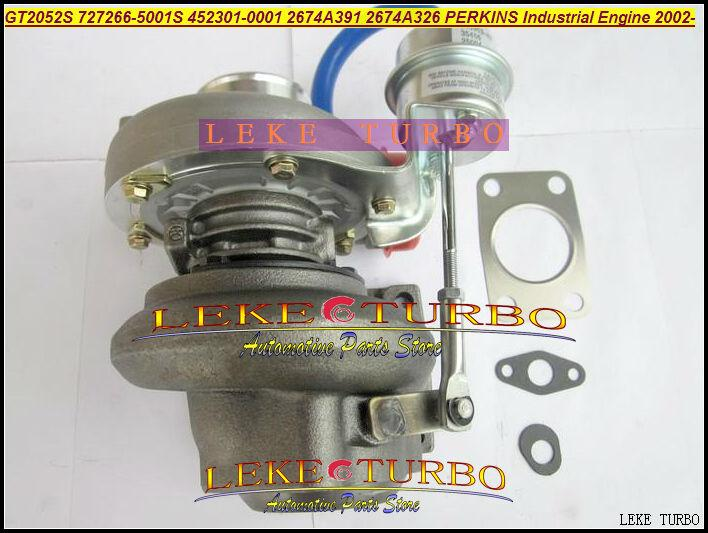 GT2052S 727266-5001S 452301-0001 2674A391 2674A326 Turbo Turbocharger For Perkins Industrial Engine 2002- Diesel (4)