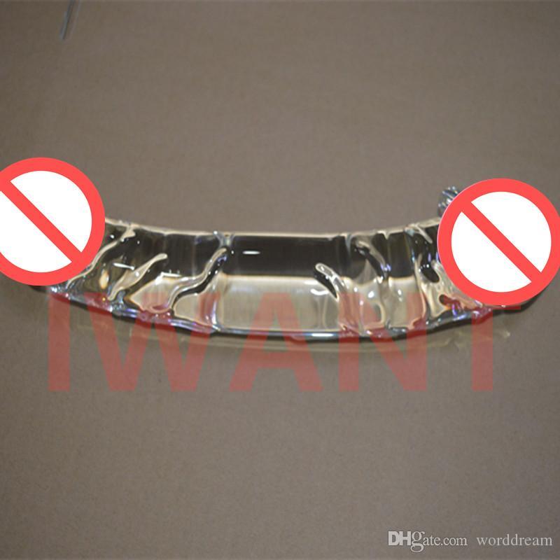 Dia 60 MM Glass Enormes consoladores Penis Anal Beads Butt Plug Para mujer, Productos eróticos de sexo Juguetes para adultos para mujeres y hombres