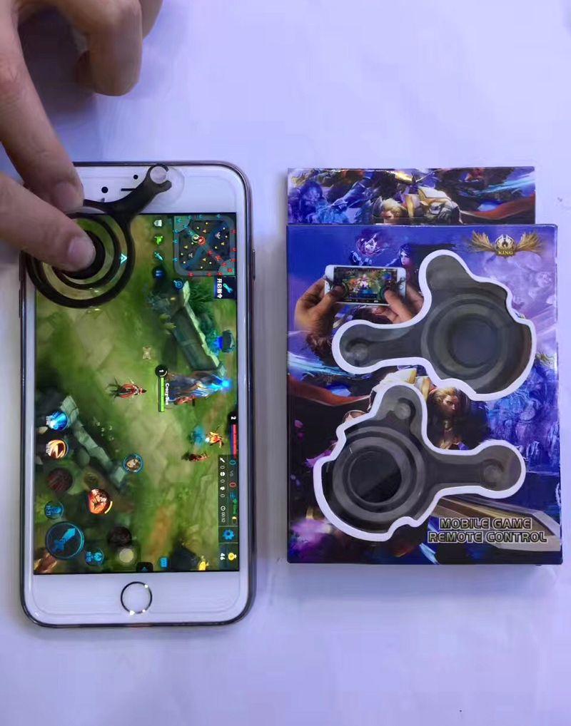 Dispositivo de pantalla móvil Joysticks Mini Fling Mini joystick móvil Joysticks analógicos dobles Clip inteligente para Samrtphone Gaming Touch con caja al por menor