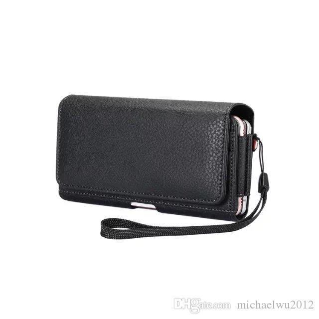 2 Yuvaları Yeni Siyah Evrensel Kılıf Kemer Klipsi PU Deri Kılıfı Cep telefonu Çanta Kapak Kılıf için LG P940 P970 P925 P993 P930