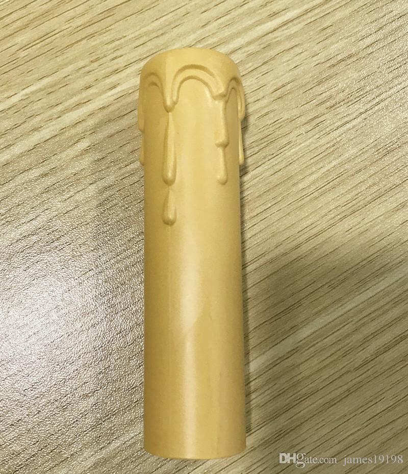 Dia 30mm Nuovo PLASTIC STANDARD SOCKET Chandelier CANDLE COVER con gocce i Spedizione gratuita
