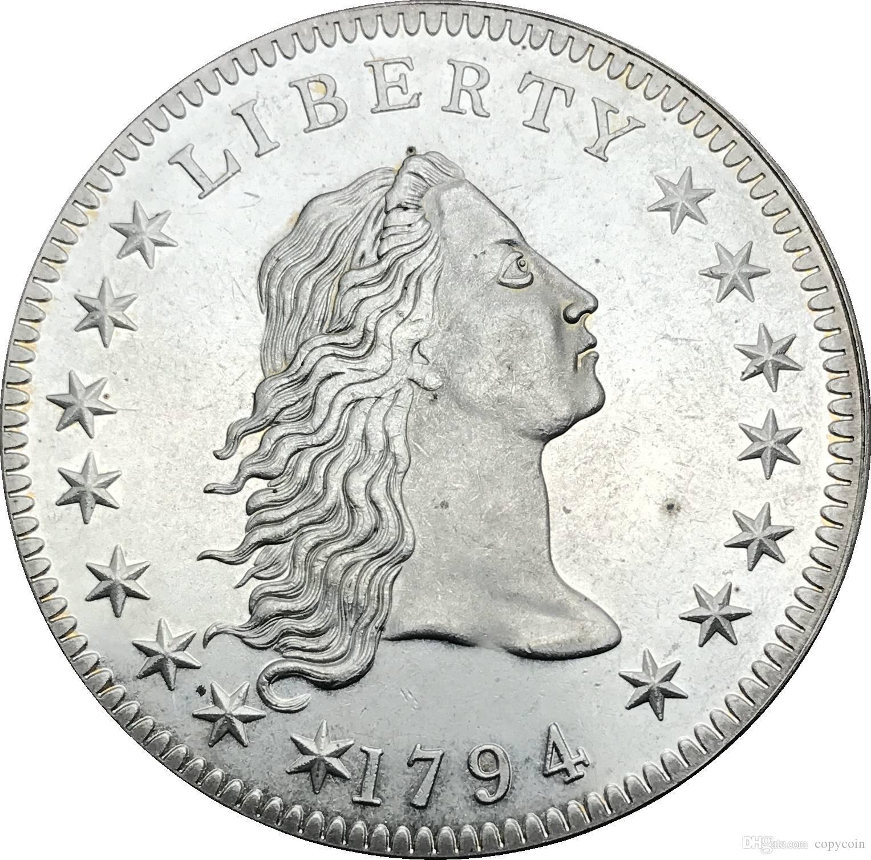Haus & Garten Vereinigten Staaten Münzen 1802 Drapierte Büste Messing Versilbert Dollar Brief Rand Silber Überzogene Kopie Münze Ornamente