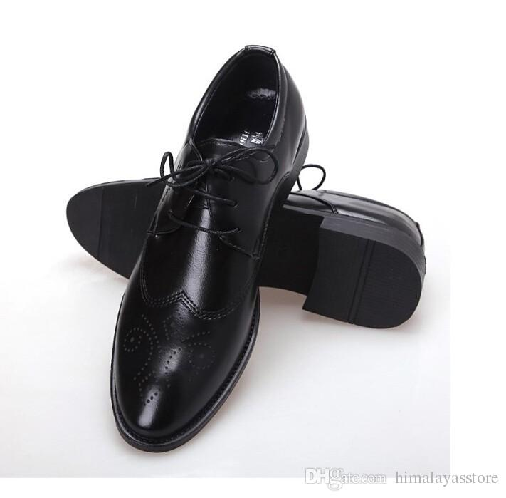 New Spring Oxford Chaussures Hommes Robe Chaussures bureau Chaussures en cuir pour les hommes
