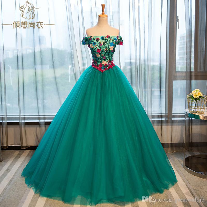 Grün Blumen Belle Ball Ballkleid Renaissance Viktorianischen Kleid Mittelalter Gericht 100Echte Königin Wiese Barock trxsdQCh