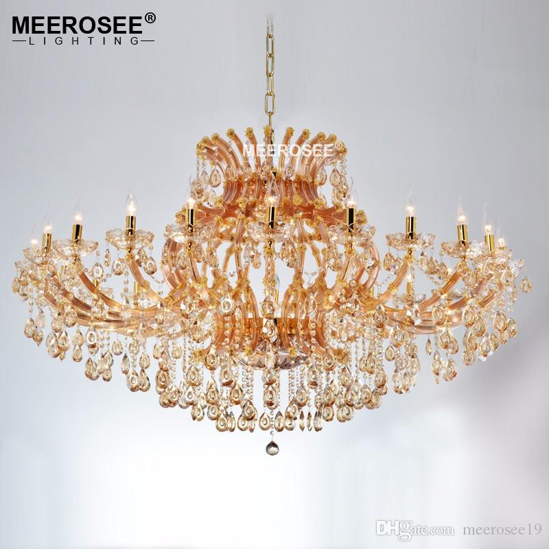 Luxurious Large Amber Crystal Chandelier Lighting Maria Theresa ...