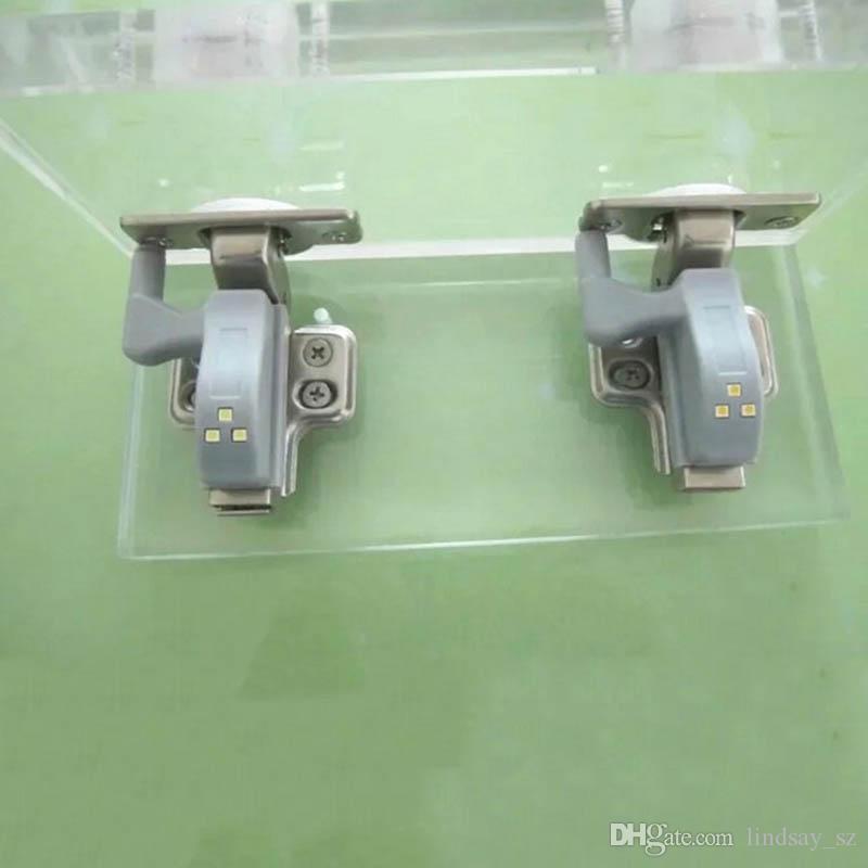 200 Unidades Nueva Cocina Universal Dormitorio Sala de estar Armario Armario Armario 0.25 W Bisagra Interior LED Sensor de Luz