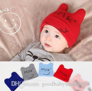 3fb2f5fd0f08 2019 Baby Winter Caps For Newborn Baby Warm Beanie Caps Hats Unisex ...