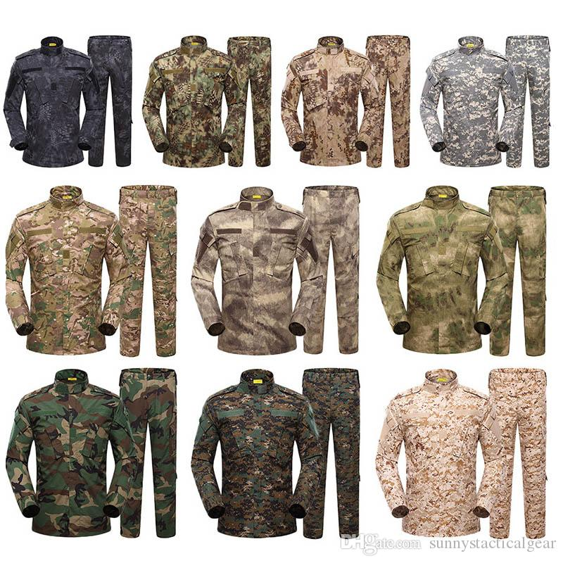 En plein air Woodland Chasse Tir Chemise Bataille Robe Uniforme Tactique BDU Ensemble Armée Vêtements De Combat Camouflage US Uniforme SO05-003