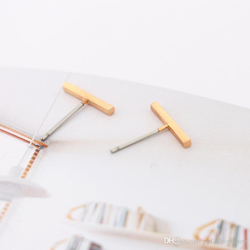 HEISSE 3 Farben-einfache Reihen-einfache Wort-Ohrringe 2018 neuer Art- und Weisetemperament-Schmucksache-Großverkauf Freies Verschiffen