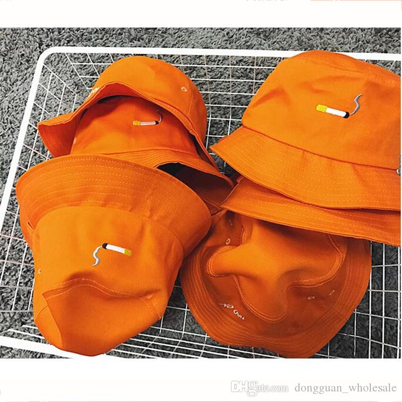 d68a35a077e C2H4 NO CHILL Orange Color Bucket Hats 2017 New Fashion Harajuku Brand  Special Design Snapback Caps Cigarette Embroidery Caps Big Hats Hat Stores  From ...
