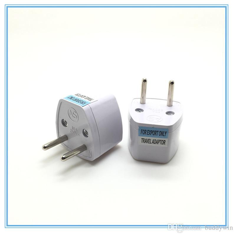 Grey White Travel Converter Charger Transfer Ac Power Plug