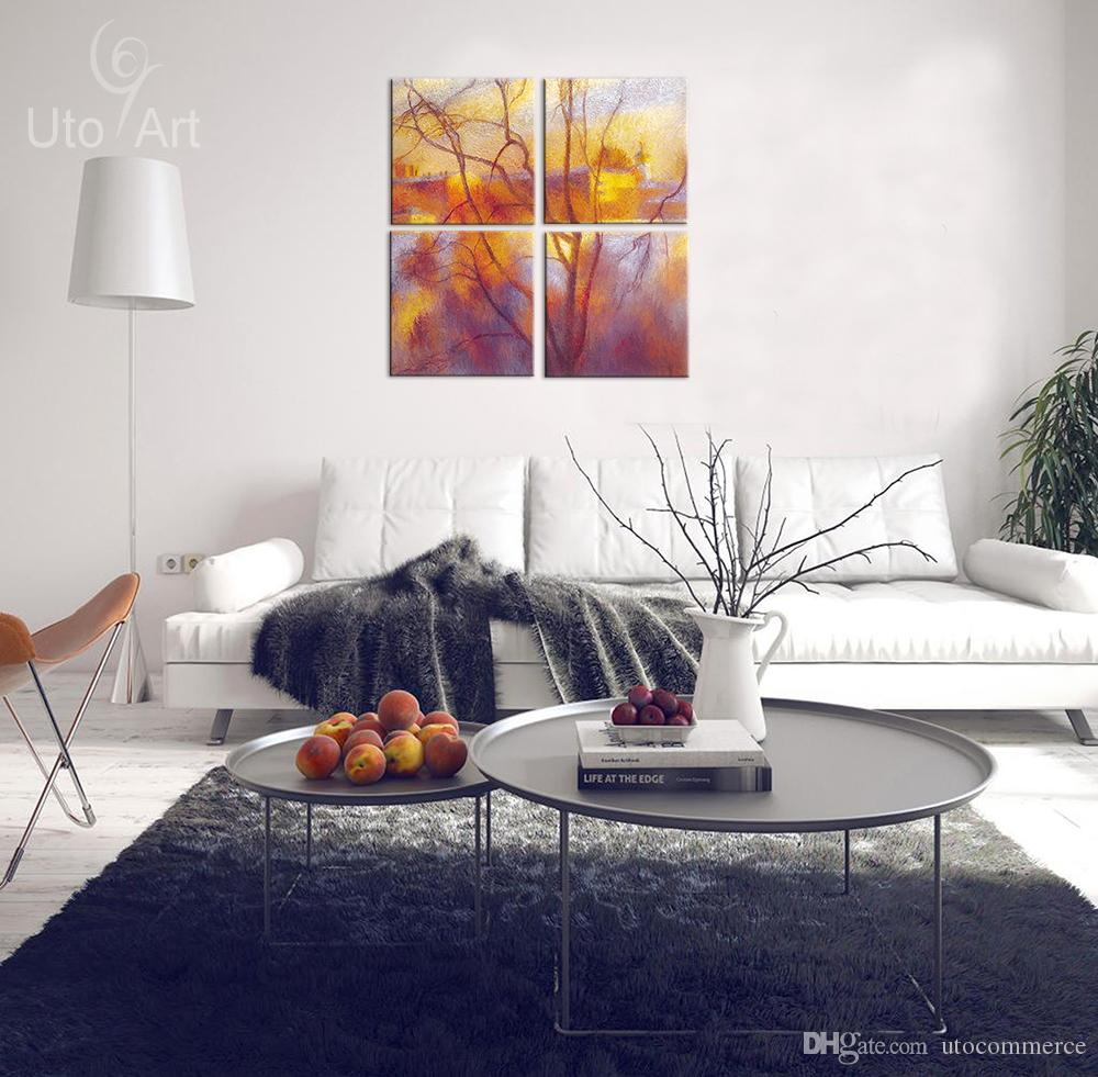 Wall Decor Painting Autumn Landscape Abstract Art Print Decorative Digital Picture Canvas Printing For Home Decoration