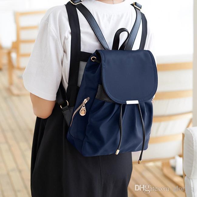 3826b2a1cec1 Nylon PU High Quality Water Proof Fashion Backpacks Girls Women Lady ...