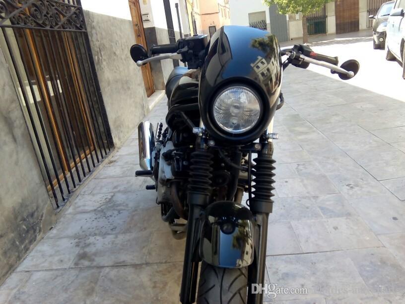 Universal Farol Plástico Front Visor Fairing Cool Mask Bezel para 883 XL1200 DYNA Sportster FX XL Motocicleta Car Styling Headlamp
