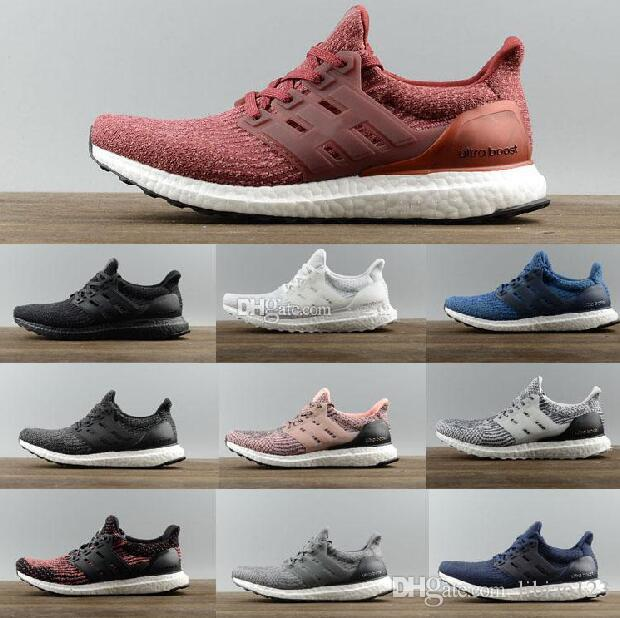 outlet store sale 82bed 80802 2017 New Ultra Boost 3.0 Triple Black and white Running Shoes Women  Ultraboost 3 Primeknit Runs Fashion men Shoes Casual Ultrals Boosts