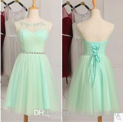 26a11358901 Mint Green White Bridesmaid Dresses Country Style Short Lace Formal Dress  For Junior Bridesmaids Scoop Neck Wedding Party Dress Childrens Bridesmaid  Dresses ...