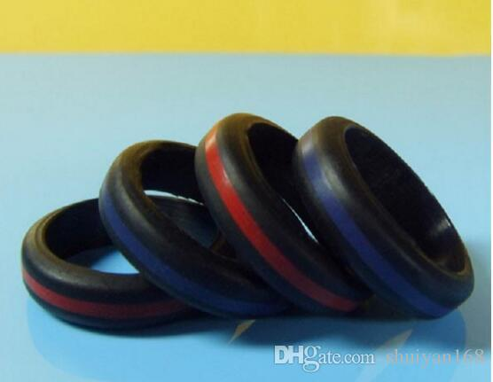 Men Women Silicone Wedding Ring Black Band Rings for Sports Enthusiast Wholesale Active Men Dhl