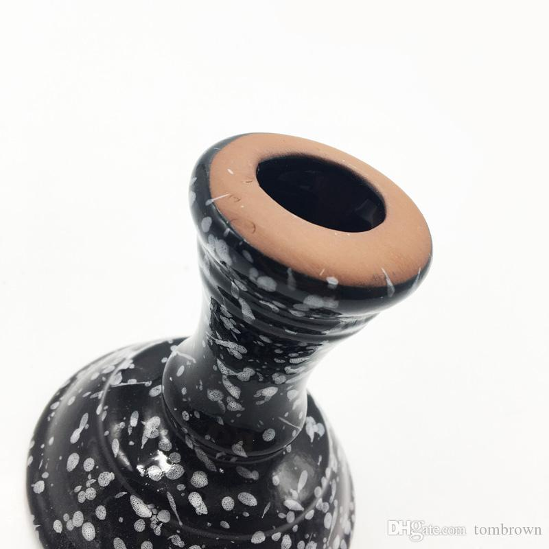 Chinese burning ceramic technology Piebold porcelain Hookah Bowl Smoking Accessories Carbon Hot Heat Keeper Shisha Bowl