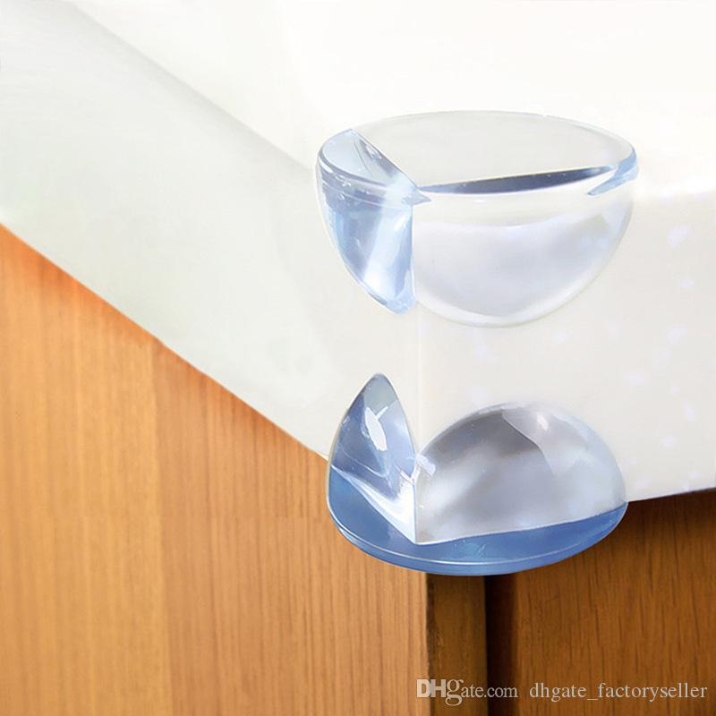 Round Corner Protectors Corner Cushions For Glass Tables Or Shelves With 3M Sticker Baby Safe