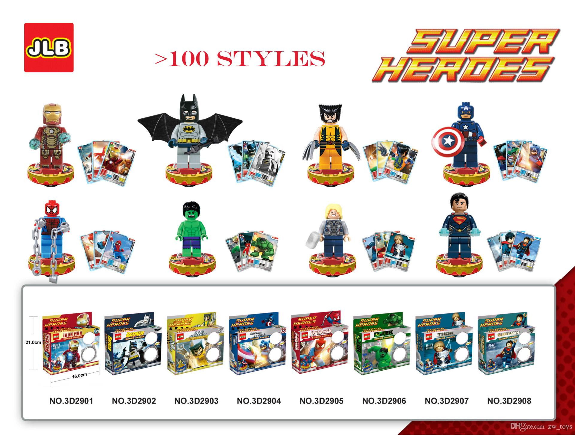 DHL Marvel One Piece Naruto Altman Super Hero >100 styles Building blocks Action Figures Avenger League dolls opp bag Wholesale