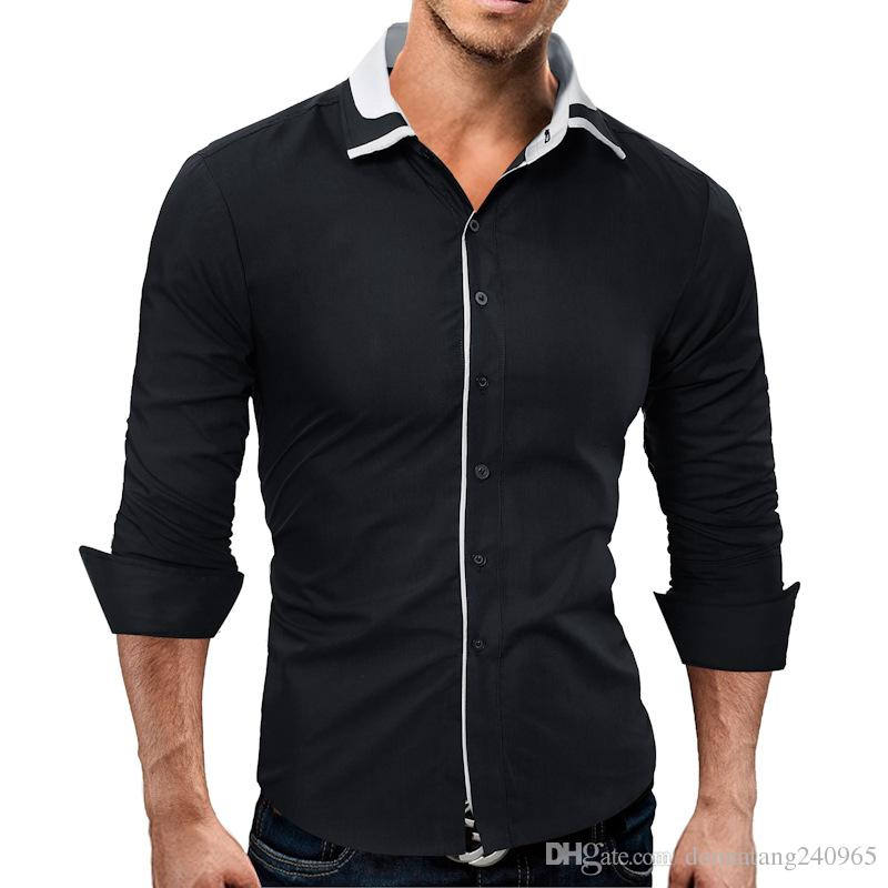 ec6a2704 2019 Linen Cotton Shirts Men Full Sleeve Breathable Summer Designer Shirts  Contrast Color Neck China Style Fashion Shirts From Donnatang240965, ...