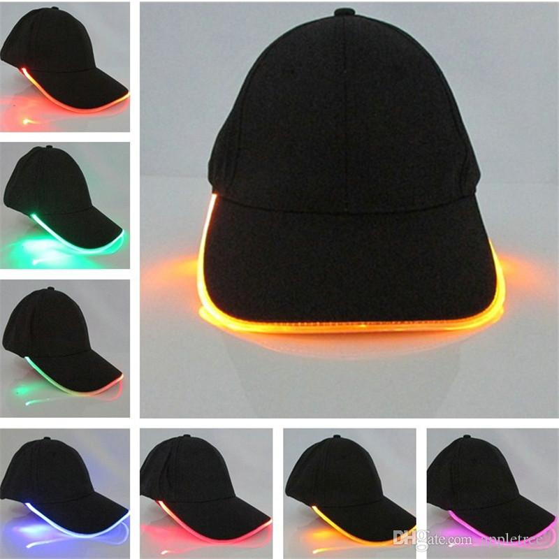 Led Light Cap For Women Men Adult Glow In The Dark Hats Luminous Baseball  Hat Fashion Mens Sport Hip Hop Caps Wholesale Christmas Party Gift Fitted  Caps ... 2d3c73182dcd