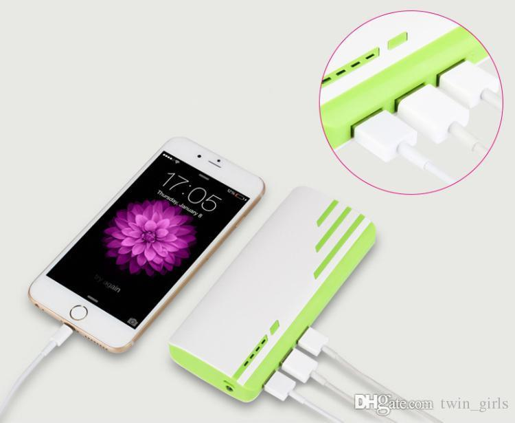 Nuevo estilo Romoss 20000mAh Power Bank 3USB batería externa con LED portátil Power Power Banks Cargador para iPhone 6s 7 7plus Samsung