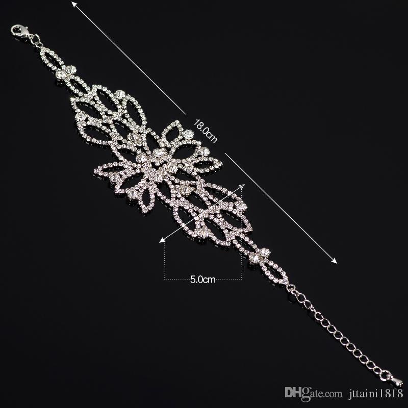 Rhine stone Crystal Rhinestone Tassels hand chain jewellery Slave bracelet wedding, party, bridal, prom The bride adorn article