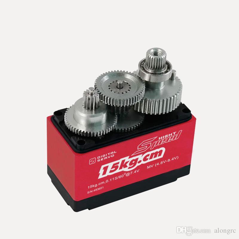ÜCRETSIZ KARGO -kingmax DCS1312SP-60g 13 kg.cm tork, yüksek gerilim, su geçirmez, metal dişliler standart servo