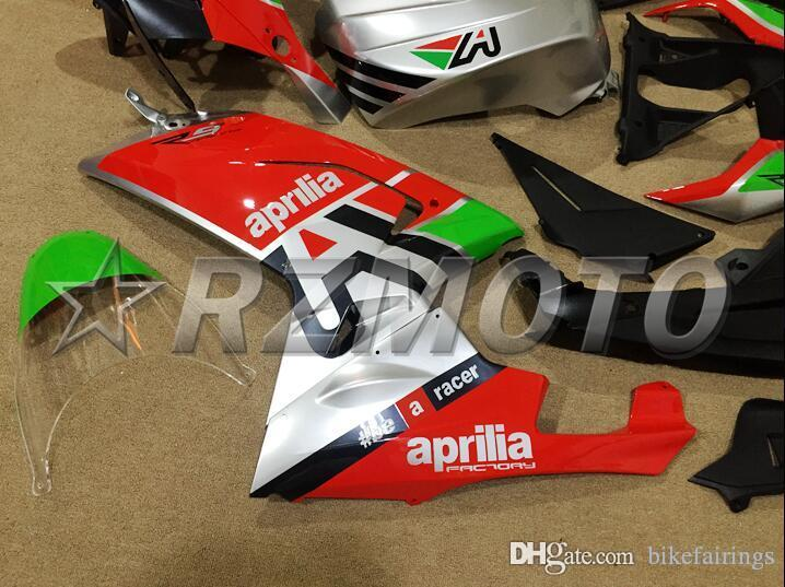 3 Regalos gratuitos Nuevo kit de carenado ABS 100% entallado para Aprilia RS4 2006-2011 RS125 06 07 08 09 10 11 RS 125 2006 2007 2008 2009 2010 2011 red silver