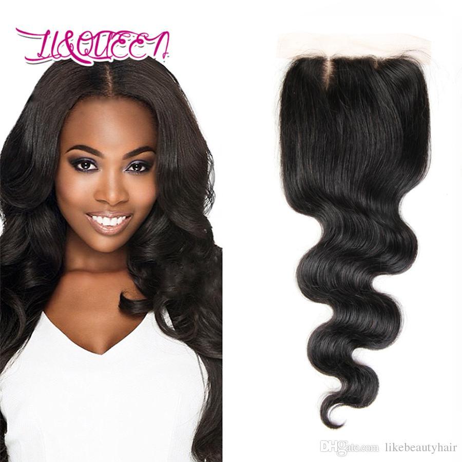 b50ba7328eda9e Silk Base Closure Body Wave Straight Weaves Hair Silk Closure Brazilian  Malaysian Indian Peruvian Mongolian Virgin Human Hair Extensions Invisible  Part ...