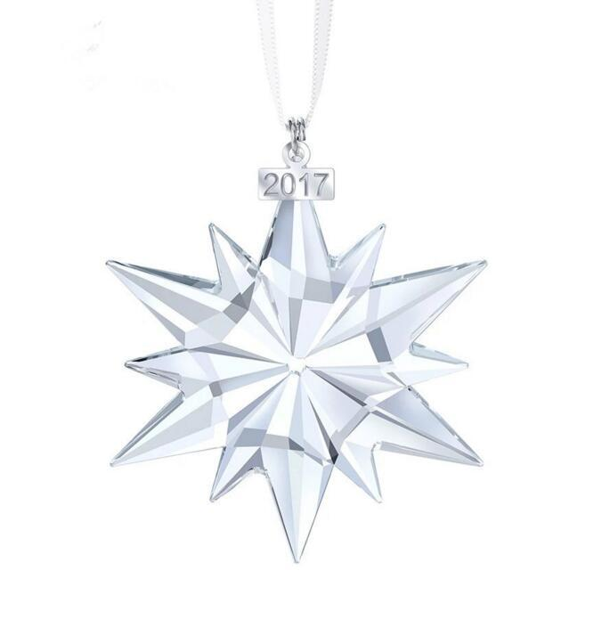 2017 New Snowflake Car Crystal Pendant High Quanlity Annual Christmas Decoration Party Ornament Wedding Favors Santa Claus Gift nt