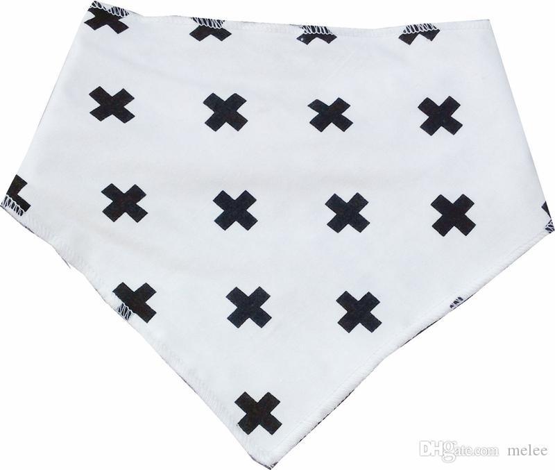 XMAS INS bébé coton bavoirs bébé chevron zigzag point barbe deear imperméable bandage triangulaire pur coton double bandage triangulaire Boucle