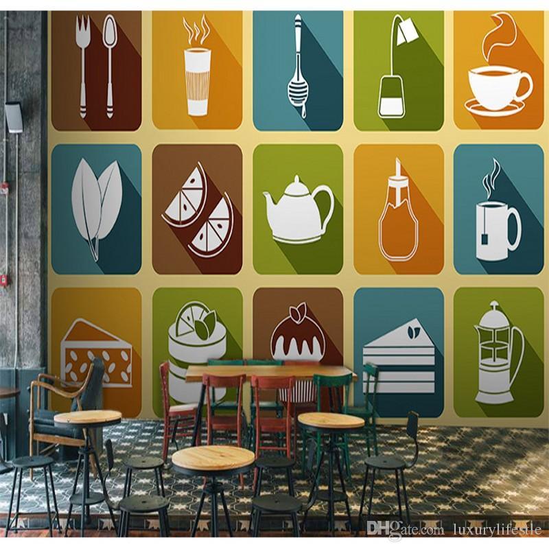3d Stereo Custom Vintage Wood Wallpaper Restaurant Tea