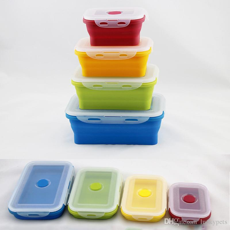 Best Silicone Eco Collapsible Lunch Box Portable Folding Food