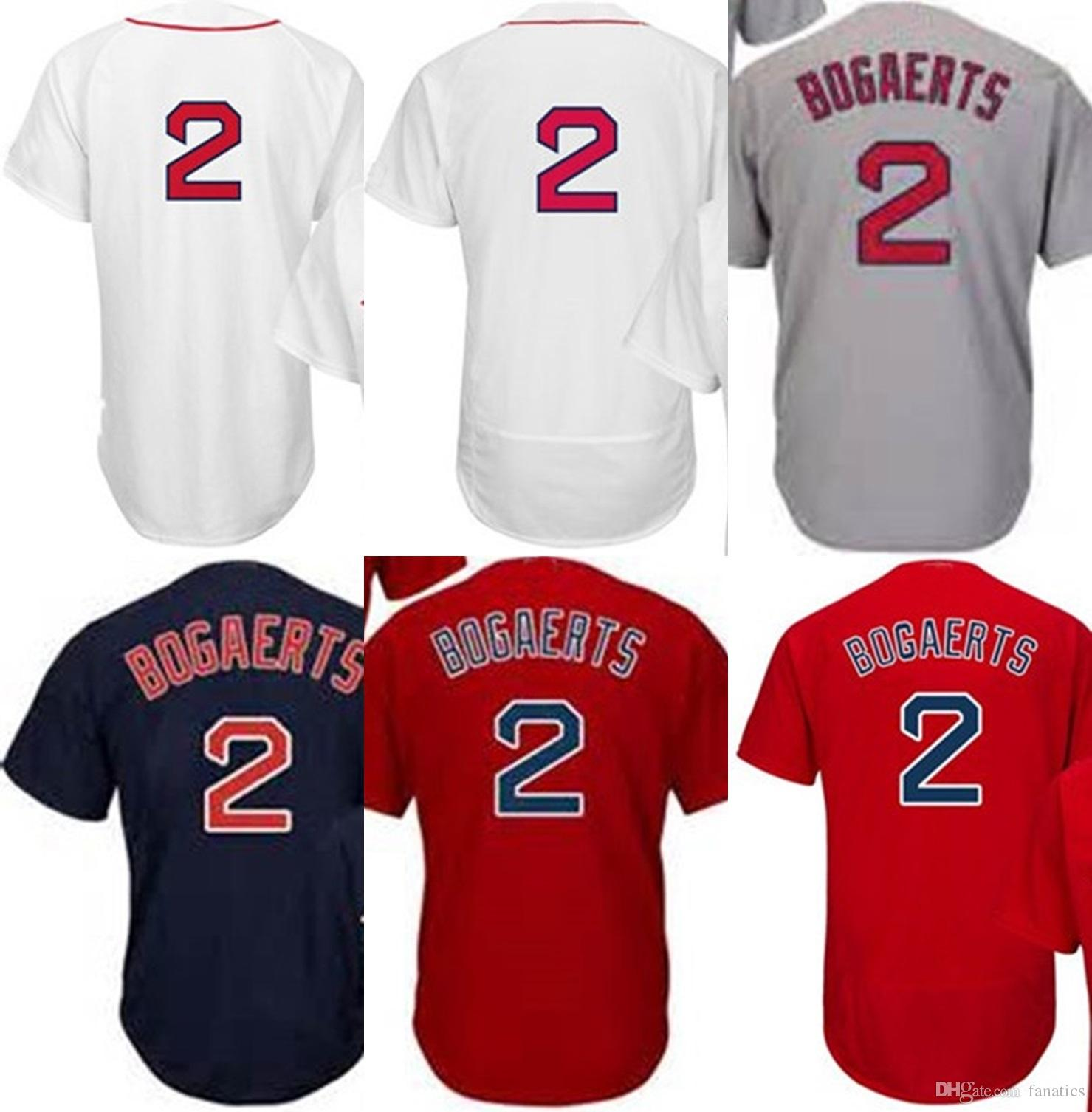 Online Cheap 2017 Wholesale Stitched Mens Womens Youth Toddler Boston 2  Xander Bogaerts Grey Red White Navy Cheap Cool Base Flex Base Baseball  Jerseys By ...
