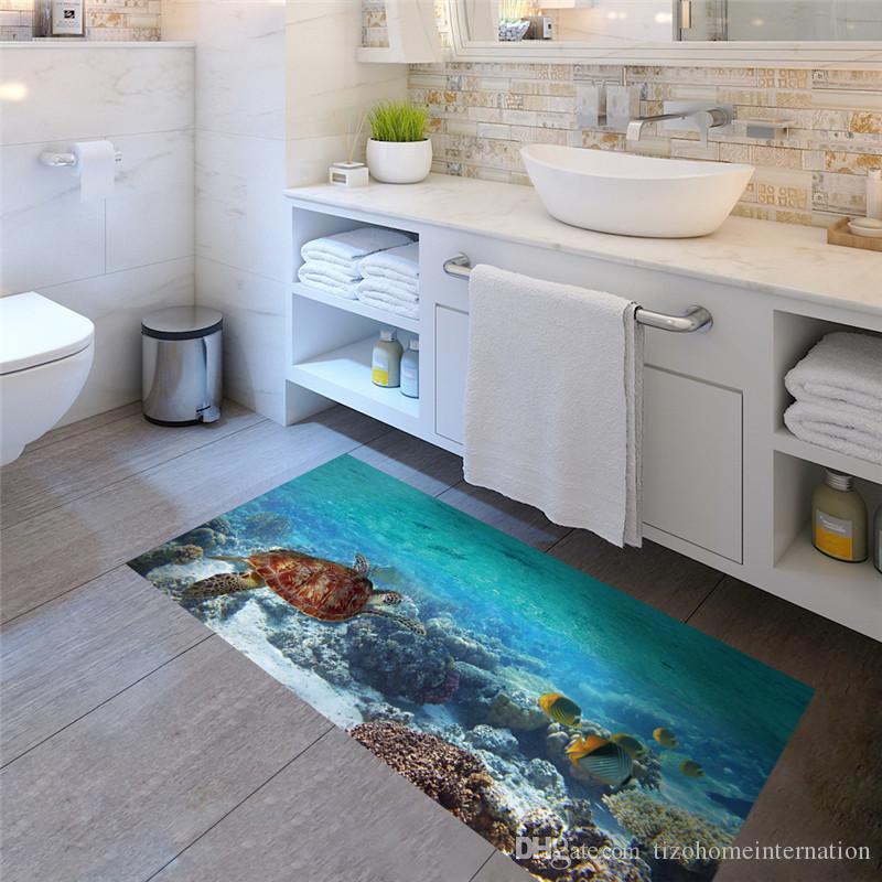Satın Al Kayma Geçirmez Deniz Balık Ve Kaplumbağa Zemin Sticker Ome