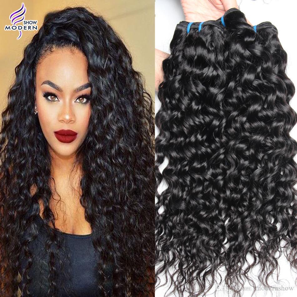Moderne Show Haar Malaysia Gerade Haarwebart Bundles #4 Farbe Remy Menschenhaar Spinnt Bundles Doppel Schuss 100g Haar Verlängerung Haarverlängerungen