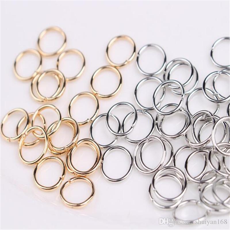Anelli di salto Apri connettori 8mm DHL Oro Argento Bronzo Rame Nero ecc. gioielleria Fai da te Accessori fatti a mano Regalo di Natale