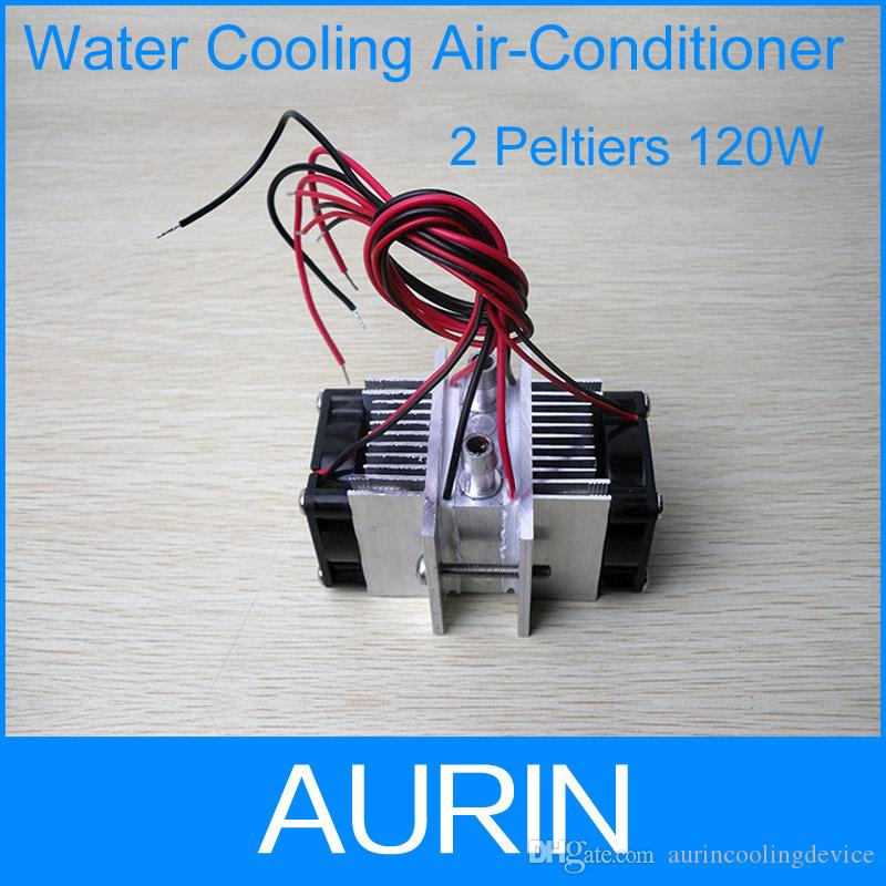 25$=X151 Water cooling air conditioner Peltier module semiconductor  refrigerator core air conditioning 2pieces peltier 120W