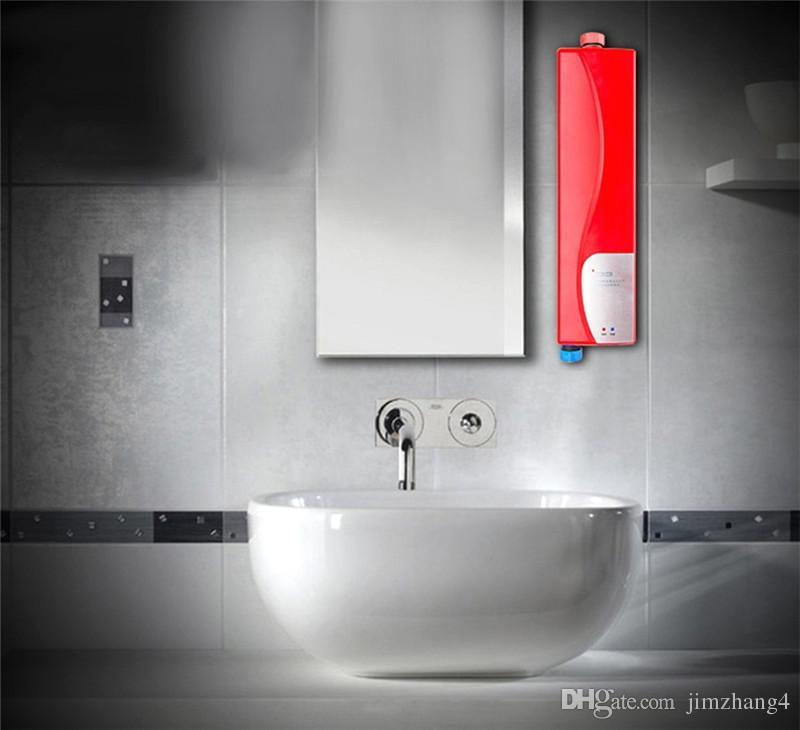 XMS01-2, envío gratis, hogar sin tanque 3000W, calentador de agua, calentador de ducha eléctrico, calentador de agua sin tanque de cocina, con enchufe de la UE