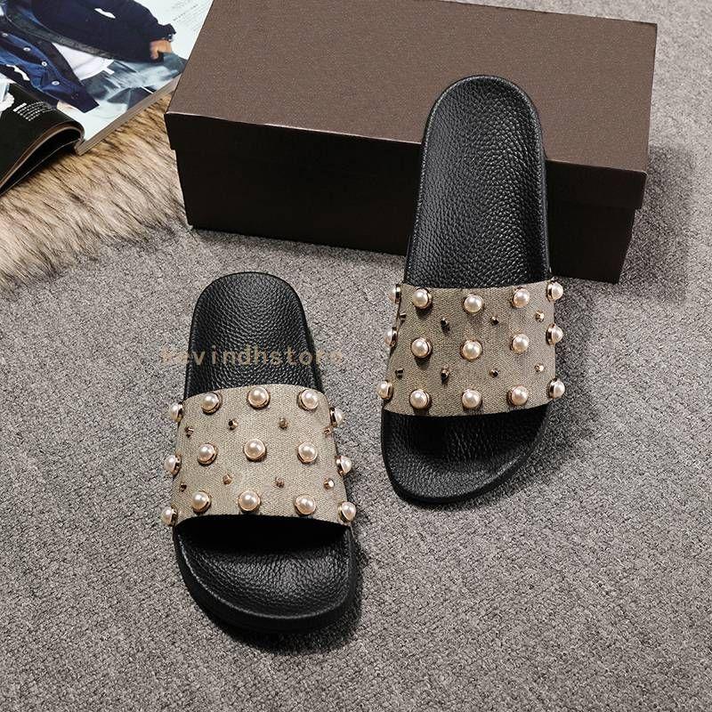 ed08bcbdf4e Beautiful Slippers Man And Women 2017 Summer New Tide Beads Sandals ...