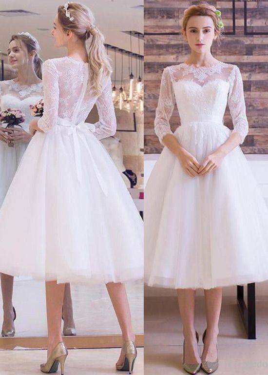 3 4 Length Wedding Dresses