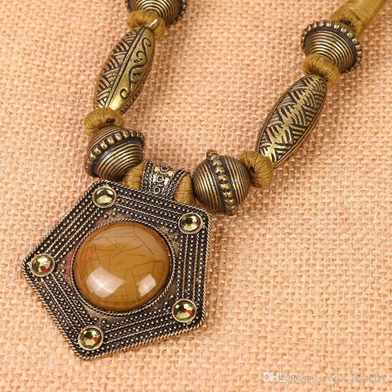 Produttori di Europa e Stati Uniti grande nuova moda popolare collana di gioielli con diamanti in lega semplice spalmato d'oro